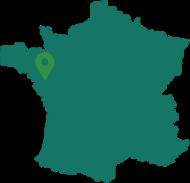 Carte de la France avec la localisation de CAPSIT